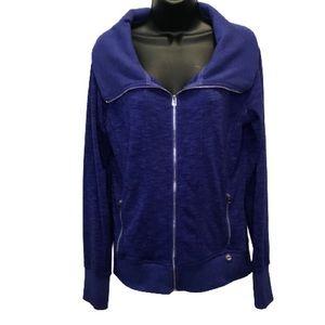Lorna Jane Periwinkle Purple Zip Up Jacket